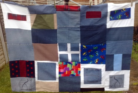 denim quilt top